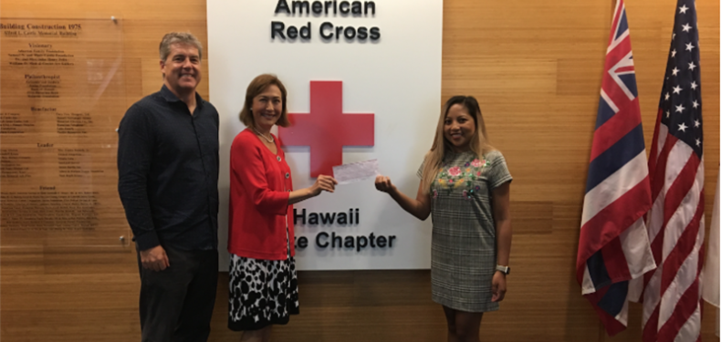 Imagine Learning presents donation to American Red Cross of Hawaii