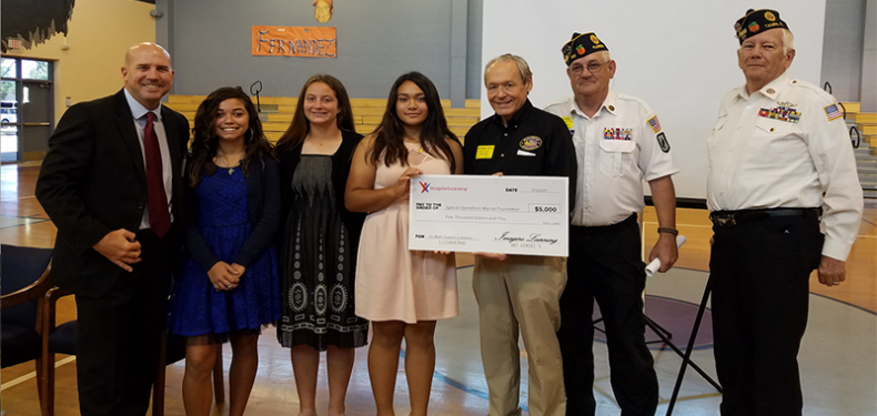 Imagine Math check being presented to SOFW veterans