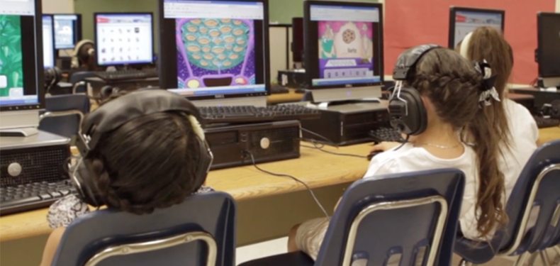 Students using Imagine Learning program
