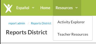 Imagine Learning Portal Activity Explorer.