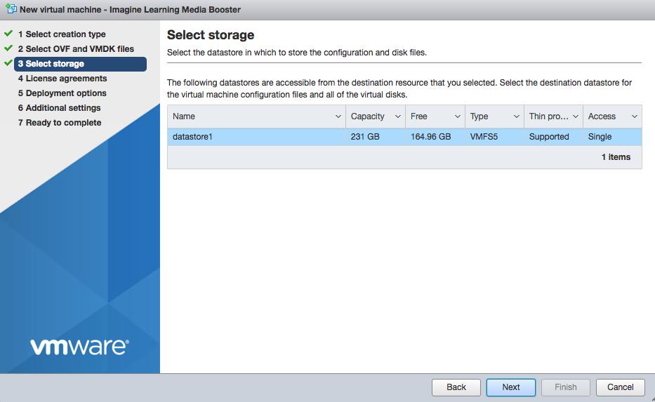 VM installation screen